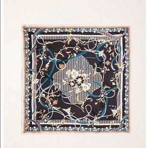 Ann Taylor pearlized floral silk little scarf